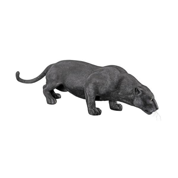 Design Toscano 16 In H Grand Black Panther Garden Statue Ne90011 The Home Depot
