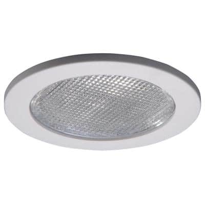 951 Series 4 in. White Recessed Ceiling Light with Lensed Shower Trim