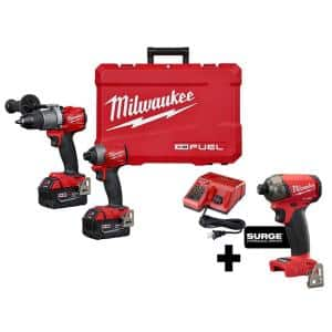 M18 FUEL 18-Volt Lithium-Ion Brushless Cordless Hammer Drill and Impact Driver Combo Kit (2-Tool) with SURGE Impact