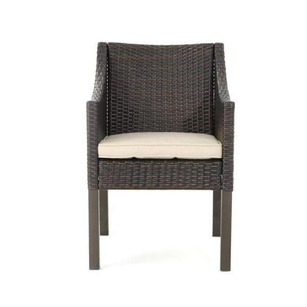 Noble House Antibes Multi Brown Armed, Patio Furniture Reno Depot