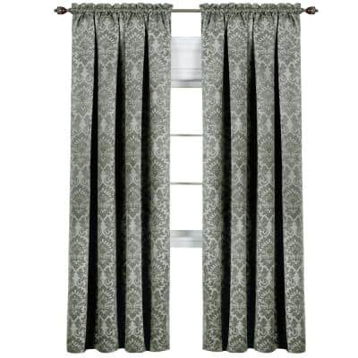 Sage Novelty Blackout Curtain - 52 in. W x 63 in. L