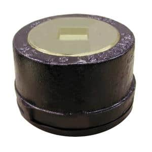 6 in. Service Weight Cast Iron Push-On Cleanout Less Gasket with Countersunk Plug for DWV - 2-3/4 in. H