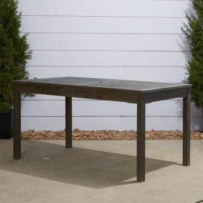 Renaissance 59 in. x 31 in. Hand-Scraped Acacia Patio Dining Table