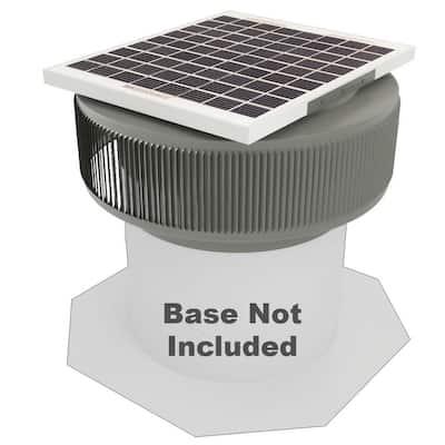740 CFM Weatherwood Powder Coated 10-Watt Solar Powered 12 in. Dia Retrofit Attic Roof Fan