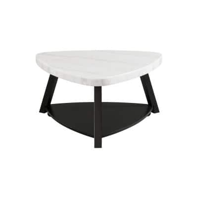 Lena White Marble Top 36 in. Coffee Table