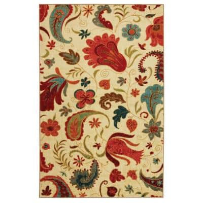 Tropical Acres Multi 5 ft. x 8 ft. Indoor Area Rug
