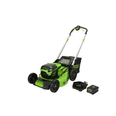 PRO 21 in. 60-Volt Battery Cordless Lawn Mower with 5.0 Ah Battery and Charger