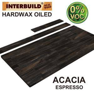49 in. x 24 in. x 1 in. Acacia Vanity Top with Backsplash, Espresso