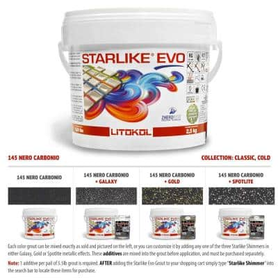 Starlike EVO Epoxy Grout 145 Nero Carbonia Classic Collection 2.5 kg - 5.5 lbs.