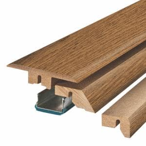 Mountain Oak 0.75 in. Thick x 2.37 in. Wide x 78.75 in. Length Laminate 4-in-1 Molding