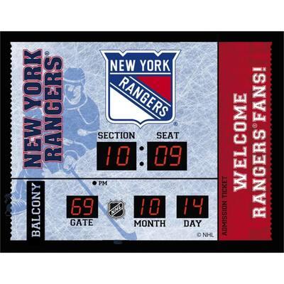 New York Rangers NHL Bluetooth Ticket Stub Wall Clock