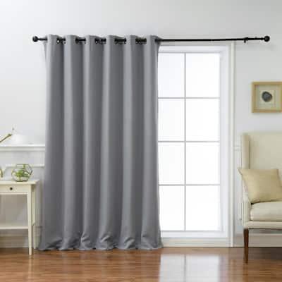 Grey Grommet Blackout Curtain - 80 in. W x 96 in. L