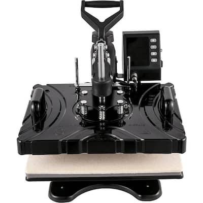 12 in. x 15 in. 5 in 1 800-Watt Combo Swing Away Clamshell Sublimation Heat Press Transfer Machine