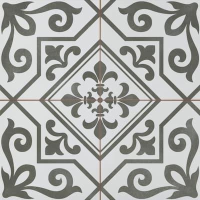 Nostalgia Epic 17.72 in. x 17.72 in. Matte Patterned Look Ceramic Floor & Wall Tile (10.9 sq. ft./Case)