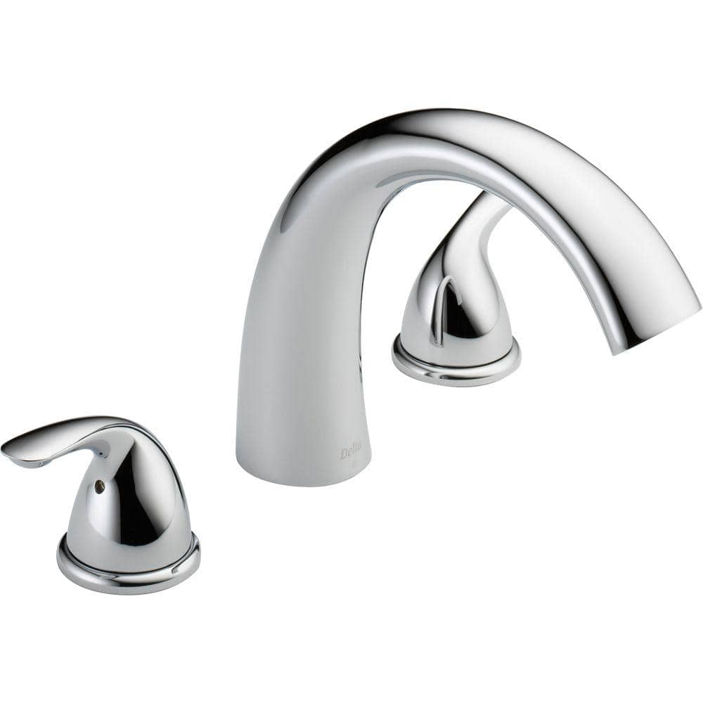 Delta Classic Deck Mount Roman Tub Faucet Trim Kit Only in Stainless # T2705-SS