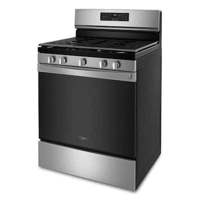 30 in. 5.0 cu.ft. Gas Range in Fingerprint Resistant Stainless Steel