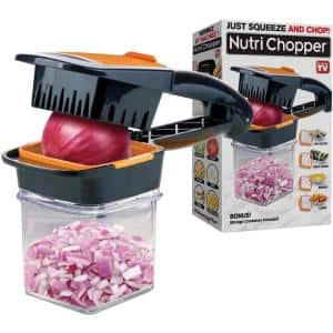 Nutri Chopper 5-in-1 Compact Portable Handheld Kitchen Slicer with Storage Container