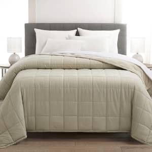Plush Fleece Down Alternative Full/Queen Cream Blanket