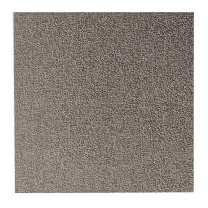 Hammered Pattern 19.69 in. x 19.69 in. Pewter Rubber Tile