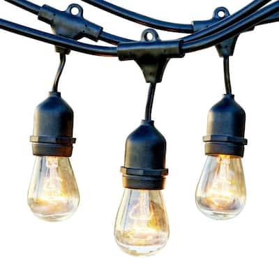 25 ft. Outdoor String Lights Commercial Grade Incandescent Hanging Lights - 10-Light Bulbs Included