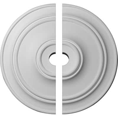 40-1/4 in. x 5 in. x 3-1/8 in. Small Classic Urethane Ceiling Medallion, 2-Piece (Fits Canopies up to 10 in.)