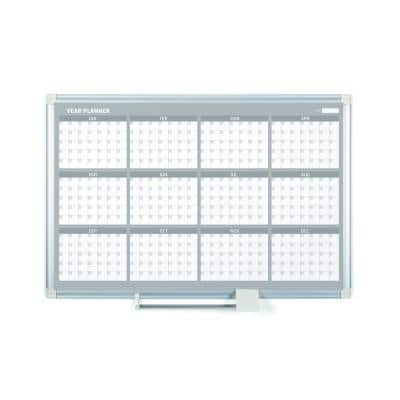 White Magnetic Dry-Erase 12-Month Planning Board