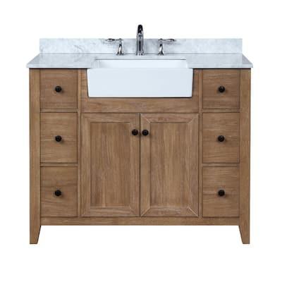 42 Inch Vanities Farmhouse Bathroom Vanities Bath The Home Depot