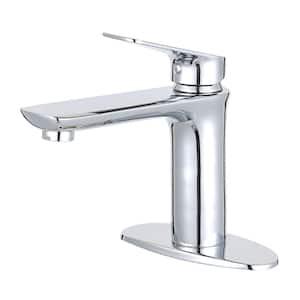 Frankfurt Single Hole Single-Handle Bathroom Faucet in Chrome