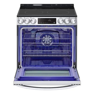 30 in. 6.3 cu. ft. Smart Electric Range with 5 Elements in PrintProof Stainless Steel