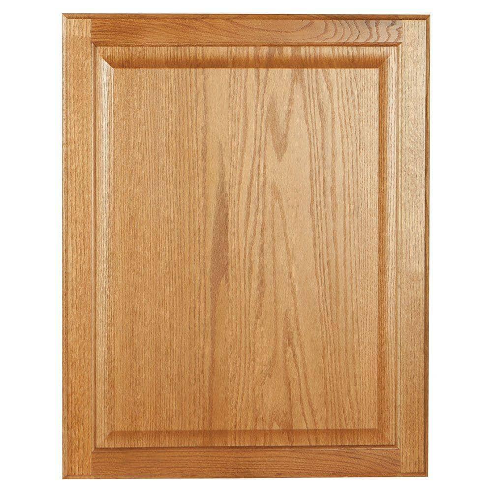 Hampton Bay 0 75x27 75x22 In Base Cabinet Decorative End Panel In Medium Oak Kaep2430 Mo The Home Depot