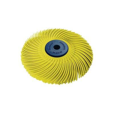 Sunburst 3 in. 3-Ply Radial Discs 1/4 in. 80-Grit Arbor Coarse Thermoplastic Cleaning and Polishing Tool (1-Pack)