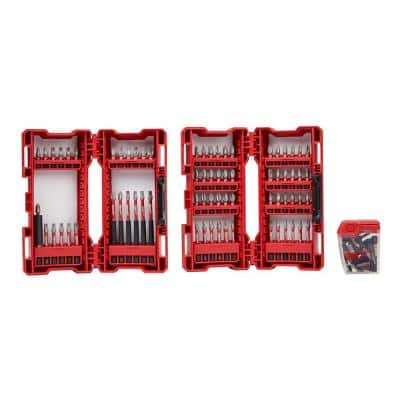 99-Piece Milwaukee Shockwave Impact Duty Alloy Steel Screw Driver Bit Set