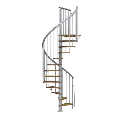 Nice1 51 in. Grey Spiral Staircase Kit