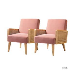 Delphine Blush Cane Accent Chair (Set of 2)
