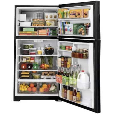 21.9 cu. ft. Top Freezer Refrigerator in Black, ENERGY STAR
