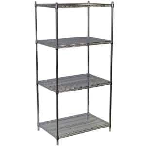 """Details about  /Lorell Industrial Adjustable Wire Shelving Starter Unit 36/"""" X 24/"""" X 72/"""""""