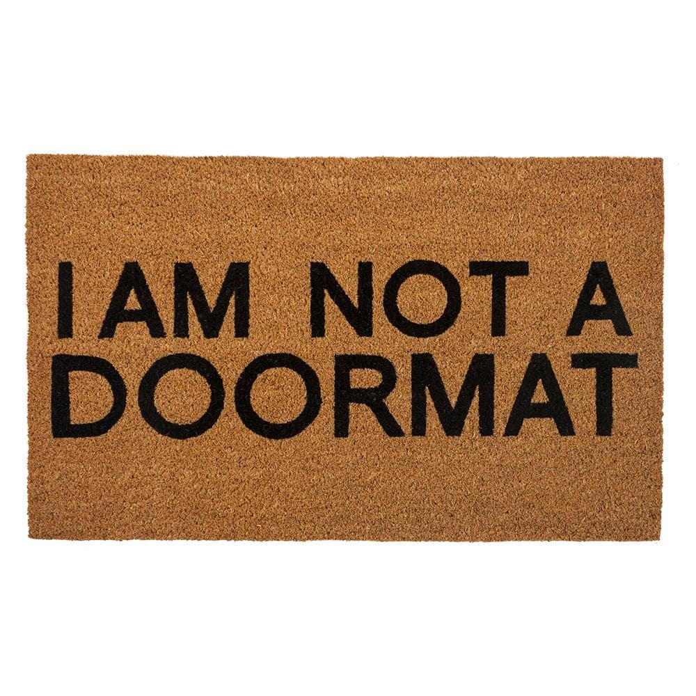 Entryways Not A Doormat 28 In X 17 In Coir Door Mat P2286 The Home Depot