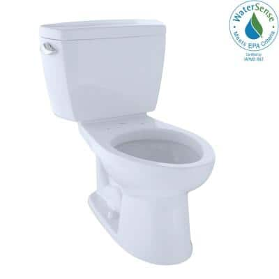 Eco Drake 2-Piece 1.28 GPF Single Flush Elongated Toilet in Cotton White, Seat Not Included
