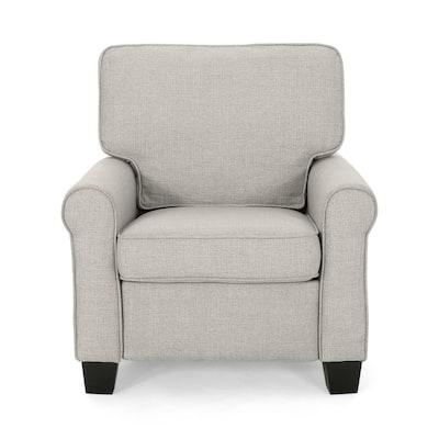 Cornelius Mid-Century Modern Beige Fabric Club Chair