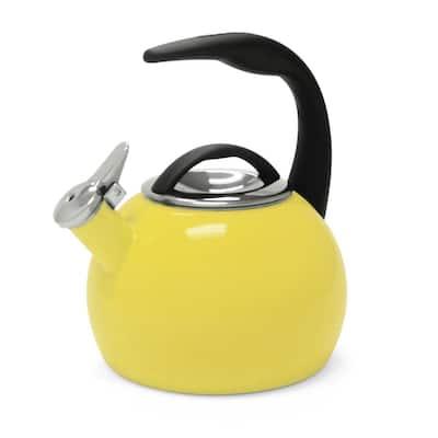 Anniversary 8-cups Enamel-On-Steel Canary Yellow Tea Kettle