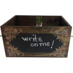 Wooden Chalkboard Planter Box