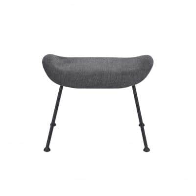 Amelia Dark Gray Fabric Ottoman with Molded Foam Seat (17.33 in x 18.9 in x 21.66 in)
