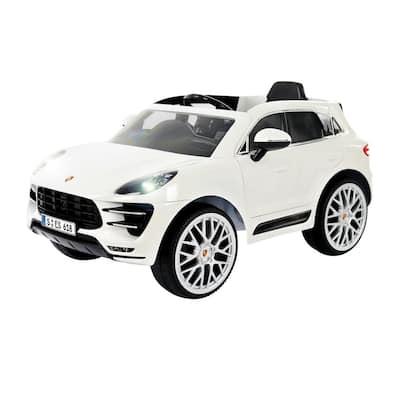 Porsche Macan 6-Volt Battery Ride-On Vehicle in White