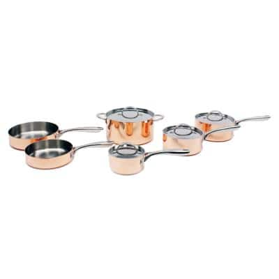 10-Piece Copper Vintage Collection Polished Cookware Set