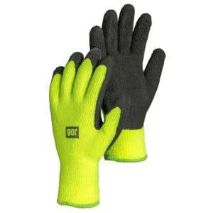 Large Size 9 Fleece-Lined Latex Dipped Work Gloves