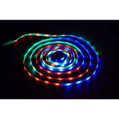 18 ft. LED Connectible Indoor/Outdoor Color Changing (White and RGB) Tape Light with Remote Control