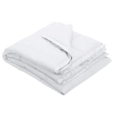 LaCrosse Down White Cotton Throw Blanket