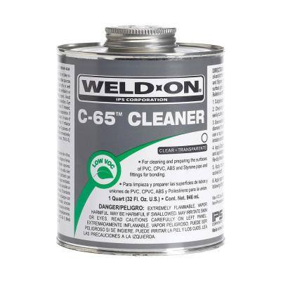 C-65 PVC/CPVC/ABS/Styrene Cleaner, Clear, Low VOC, 1 Quart (32 Fl. Oz.)