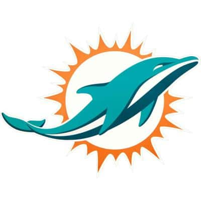 NFL Miami Dolphins Outdoor Logo Graphic- Small