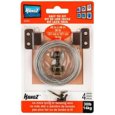30 lbs. Easy Tie 2-Hole D-Ring Kit (4-Piece)